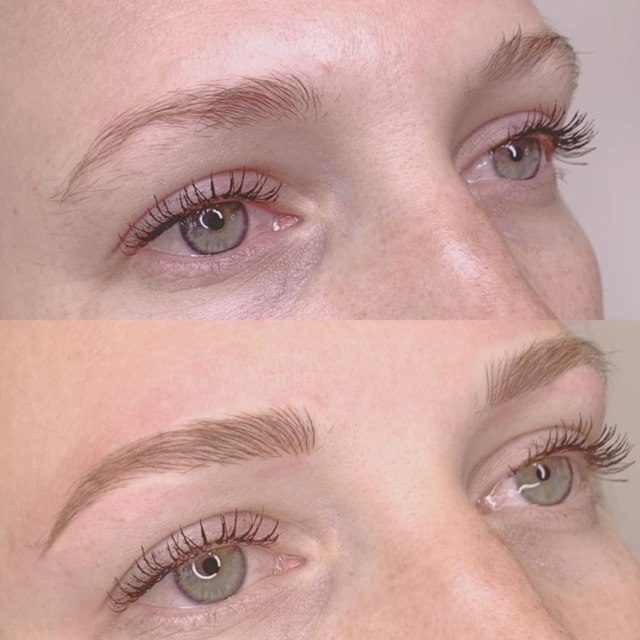 Волосковый татуаж бровей - фото до и после, эффект, отзывы